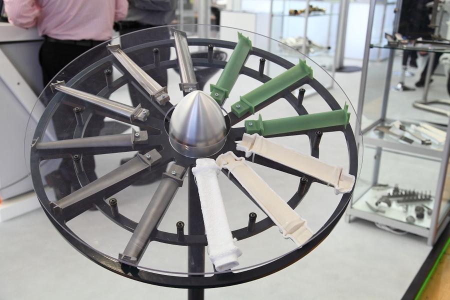 Anschauungsmodell für den Feinguss einer Turbinenschaufel
