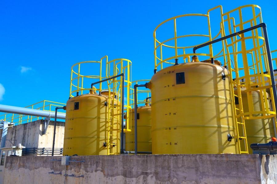 Industrielle Filteranalage - Wertstoffaufbereitung